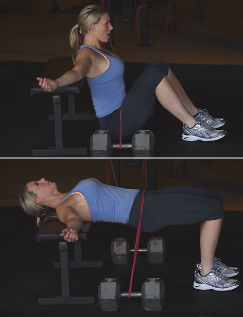 Hip Thrust With Resistance Band