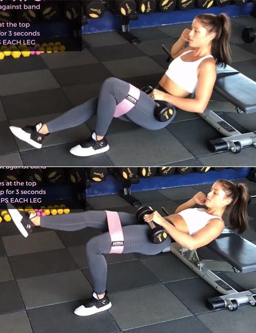 Single-Leg Dumbbell Hip Thrust
