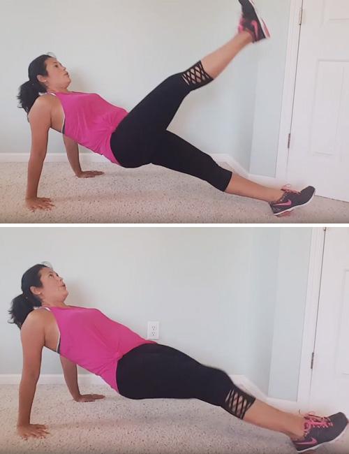 Reverse Plank Leg Lift